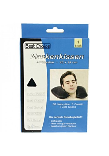 Best Choice Nackenkissen - Reisekissen - Aufblasbar - 43x24 cm