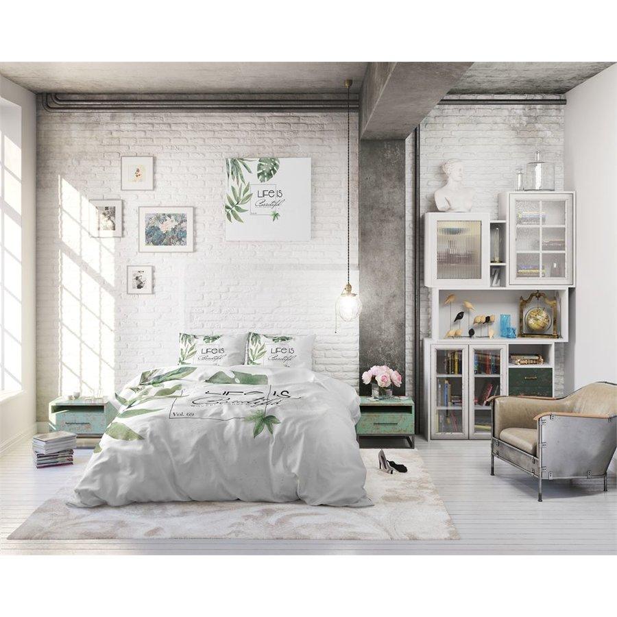Dekbedovertrek - Life is Green White