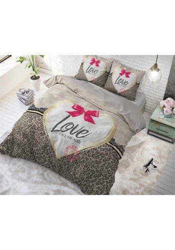 Sleeptime Dekbedovertrek Wild Love 3 taupe