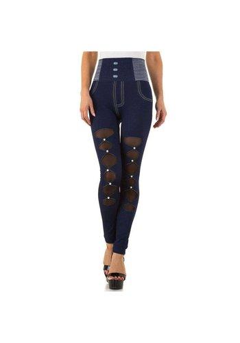 FASHION DESIGN Damen Leggings Gr. eine Größe - blau