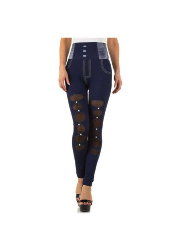FASHION DESIGN Dames Leggings Gr. one size - blauw