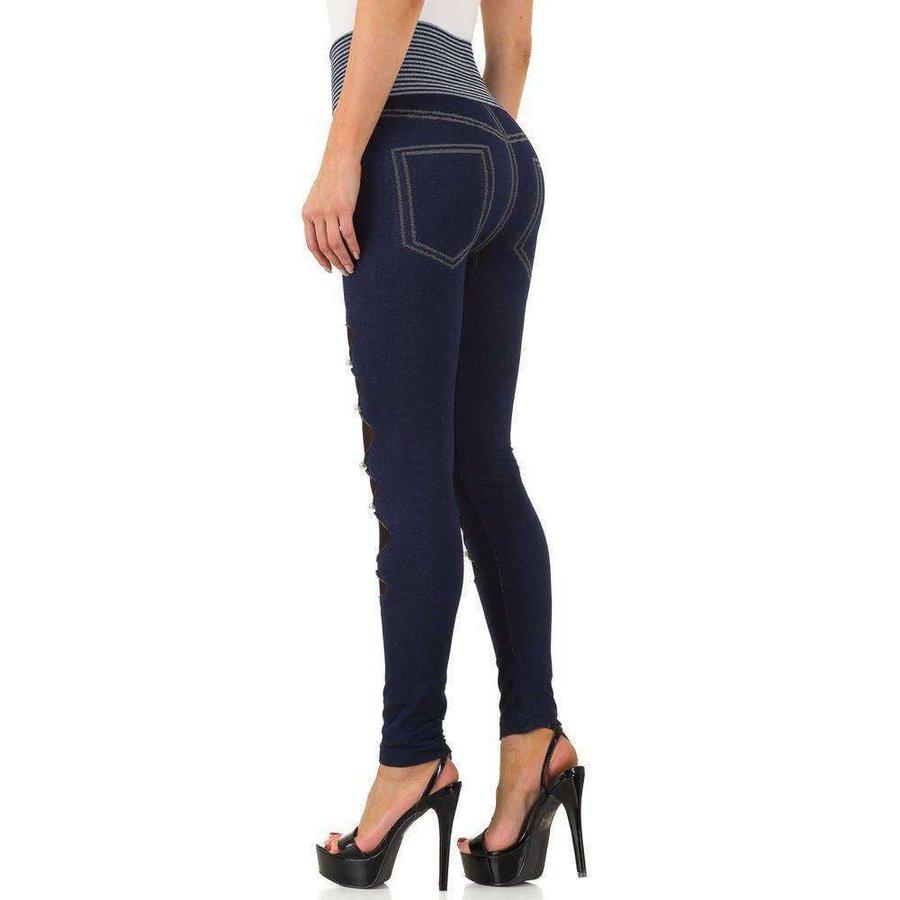 Damen Leggings Gr. eine Größe - blau