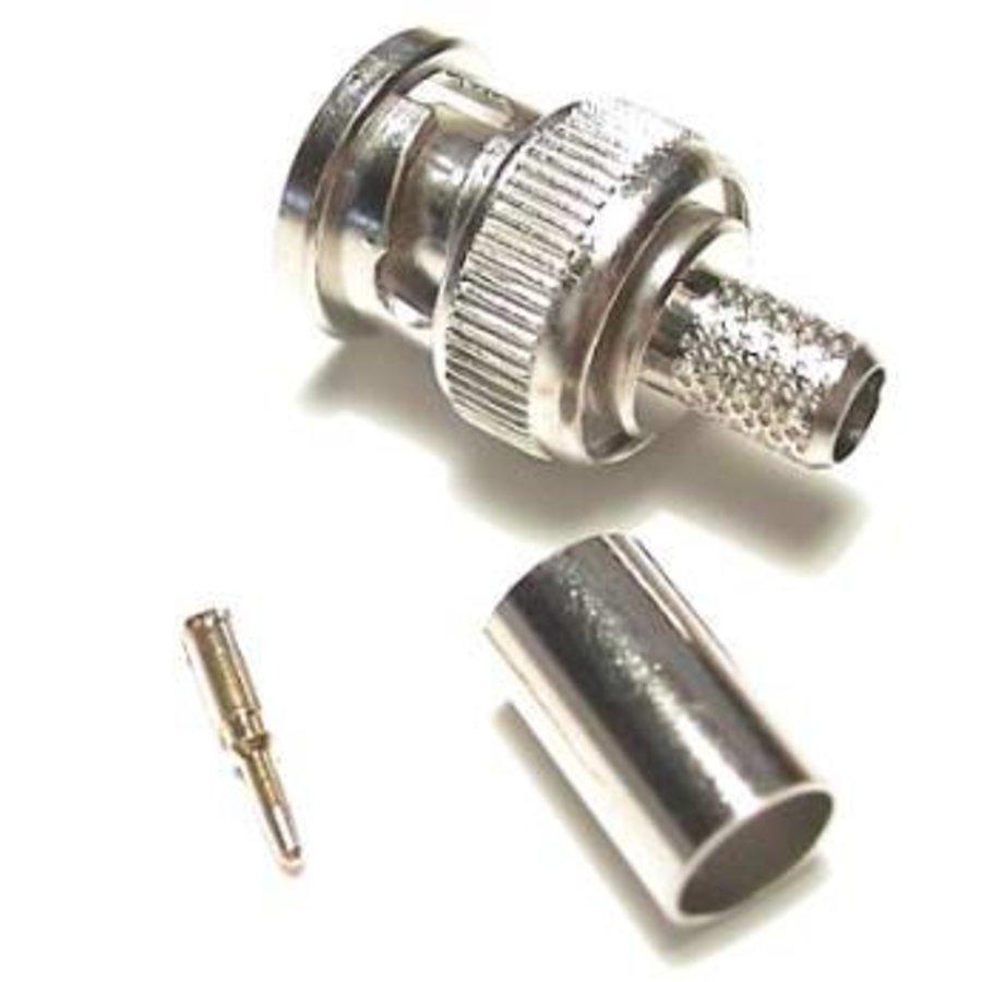 RG-59 BNC crimping connector, 50 pcs per bag