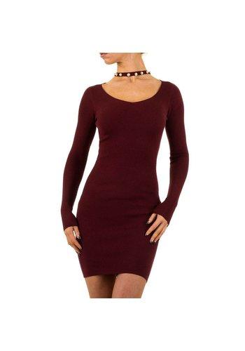 MC LORENE Damen Kleid von Mc Lorene Gr. eine Größe - weinrot