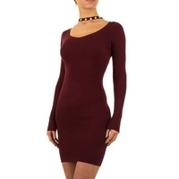 Damen Kleid von Mc Lorene Gr. eine Größe - weinrot