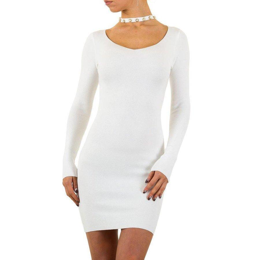 Damen Kleid von Mc Lorene Gr. eine Größe - weiß