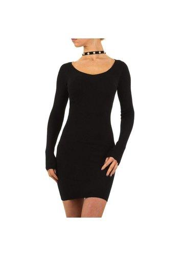 MC LORENE Damen Kleid Gr. eine Größe - schwarz