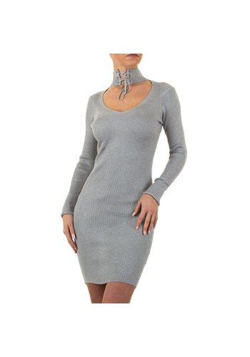 EMMA&ASHLEY Damen Kleid Gr. eine Größe - grau