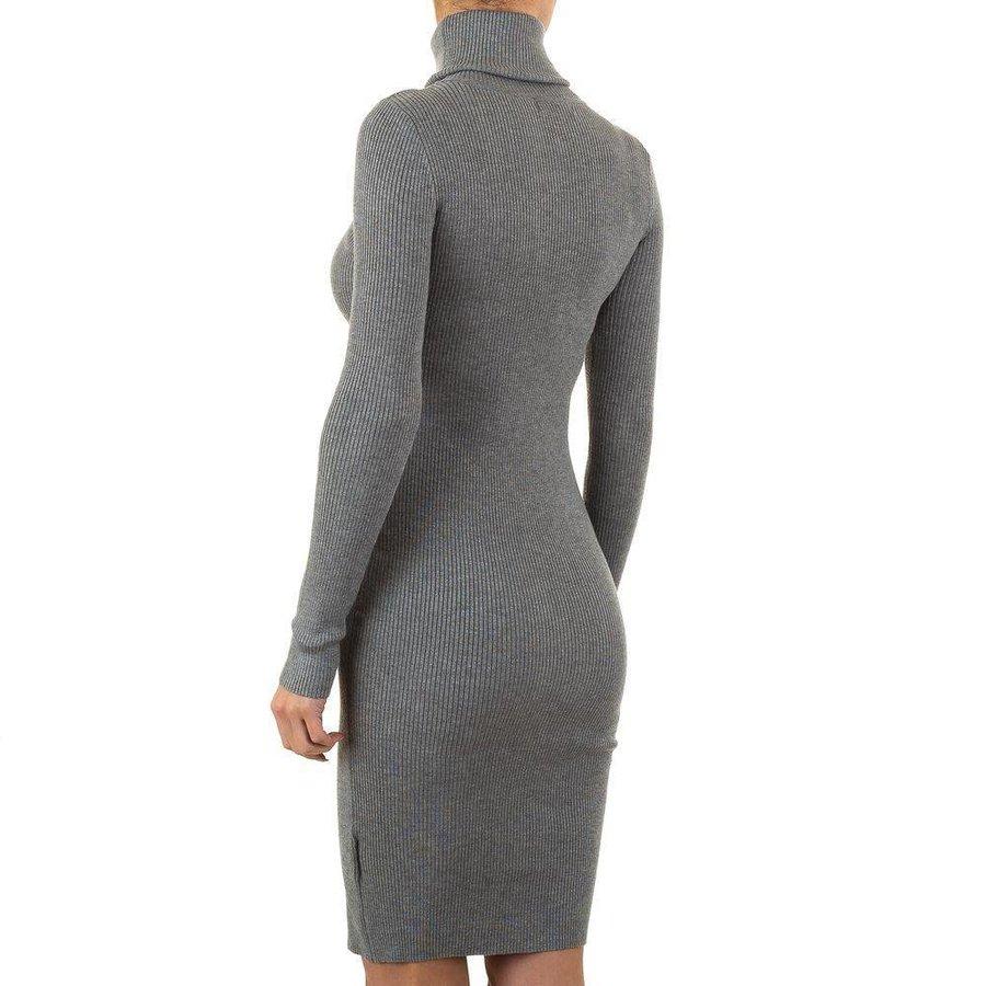 Damen Kleid Gr. eine Größe - grau