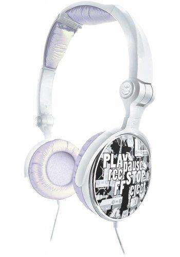 G-Cube G-Pop Vouwbare DJ-headet Zilver
