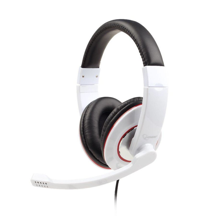 Stereo-Headset, glossy white