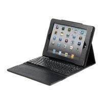 Leder-Schutzhülle mit Tastatur für iPad 2 und das neue iPad, US-Layout