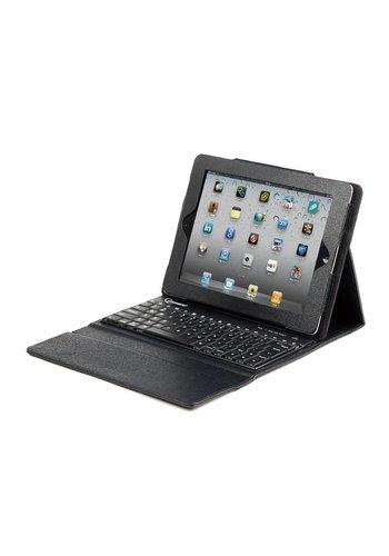Gembird Leder-Schutzhülle mit Tastatur für iPad 2 und das neue iPad, US-Layout