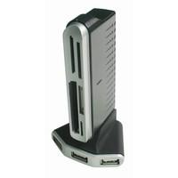4 poorts USB 2.0 hub met kaartlezer