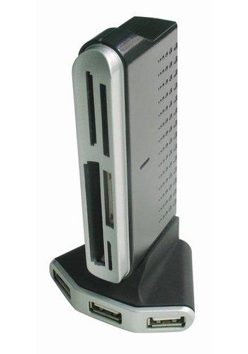 Gembird 4 poorts USB 2.0 hub met kaartlezer