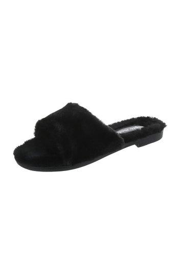 Neckermann Dames Pantoffels Zwart