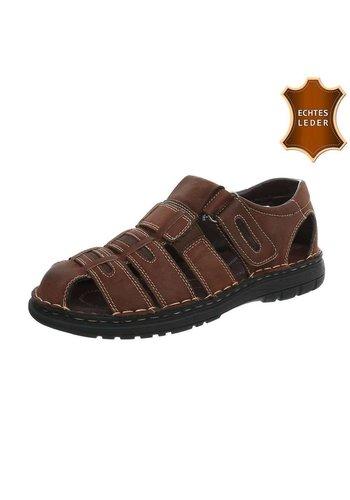 Neckermann Sandales pour hommes - cuir marron