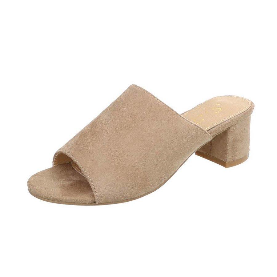 Damen Flache Sandalen - beige