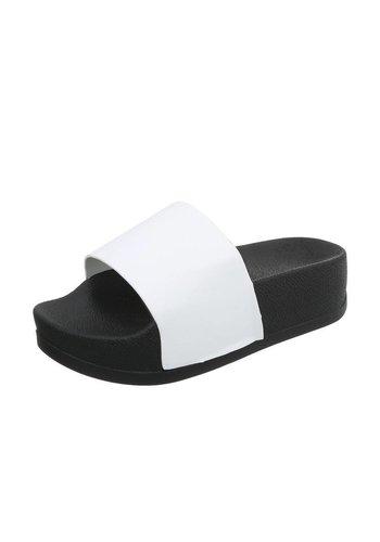 Neckermann Damen Slipper mit dicker Sohle - weiß