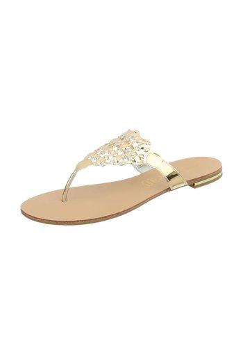 Neckermann Damen Slipper - gold metallic