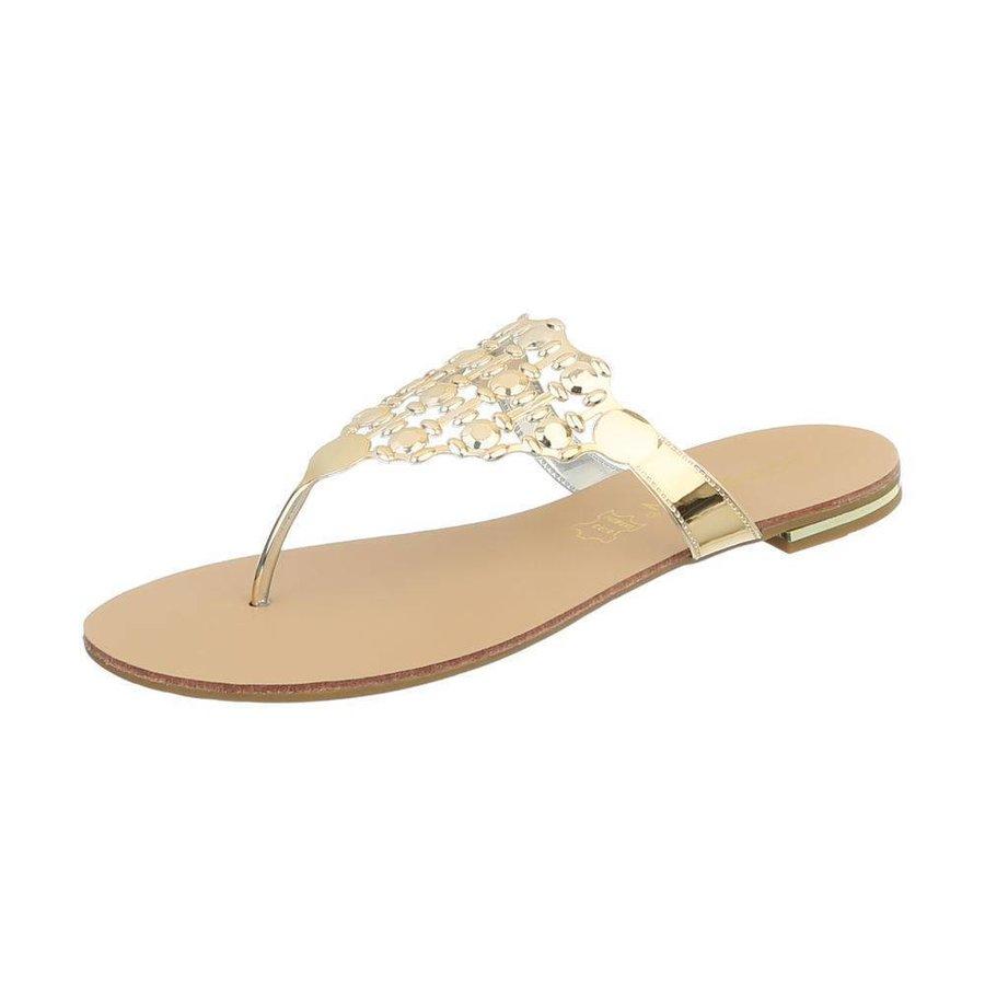 Damen Slipper - gold metallic