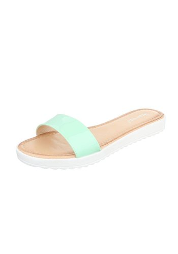 Neckermann Damen Slipper - mintgrün