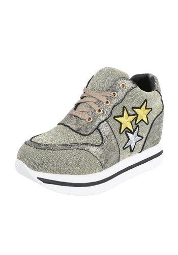 Neckermann Damen Sneaker mit 3 Sternen - Gold