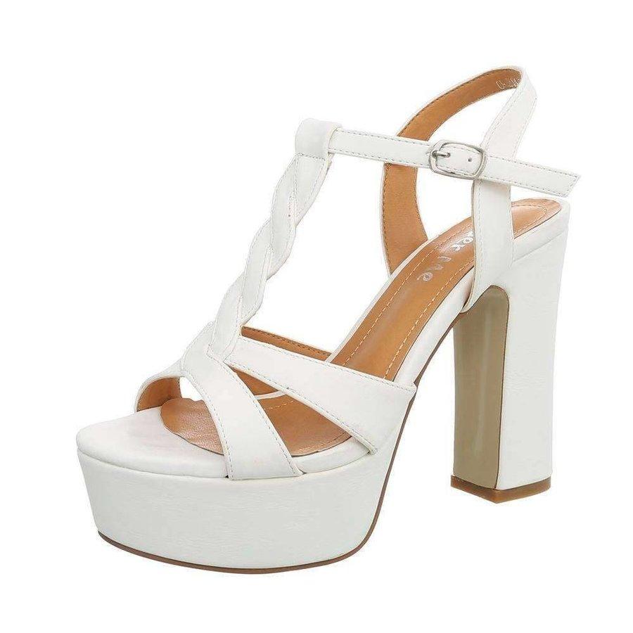Damen Open Schuh mit hohem Absatz - weiß