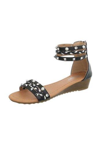 Neckermann Damen Sandalen mit Schlössern - schwarz