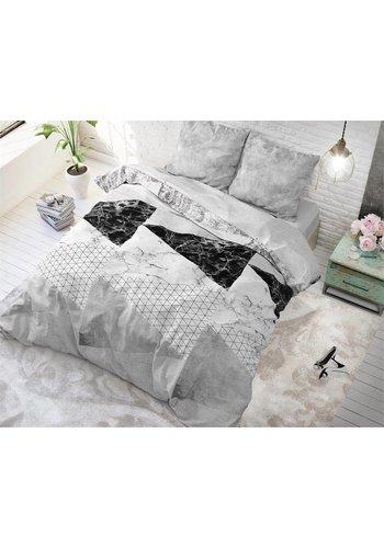 Sleeptime Dekbedovertrek Marble Art grijs
