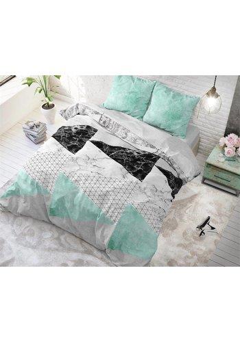 Sleeptime Dekbedovertrek Marble Art turquoise
