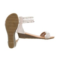Damen Sandalen mit Verschlüsse - beige