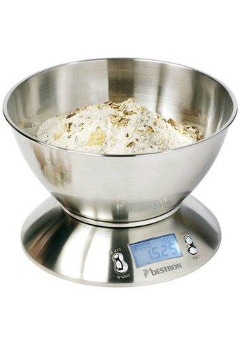 Bestron Keukenweegschaal - RVS - Tot 5 kg