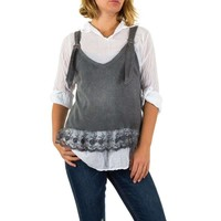 Damen Bluse von Carla Giannini Gr. one size - grey