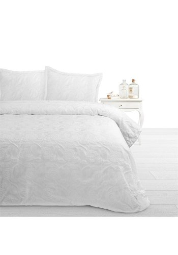 Fancy Embroidery Beddensprei Pure White