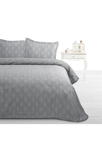 Fancy Embroidery Beddensprei Ritmo grijs