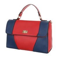 Damen Handtasche - rot / blau