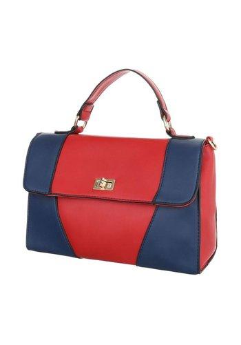 Neckermann Damen Handtasche - rot / blau