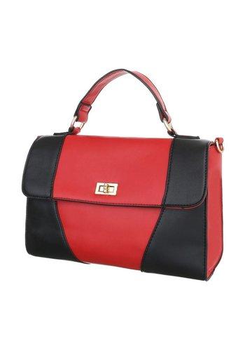 Neckermann Damen Handtasche - rot / schwarz