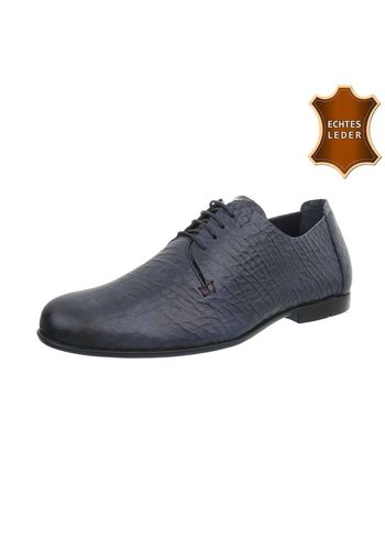 COOLWALK Herren Business Schuhe - blaues Leder