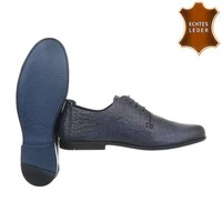 Herren Business Schuhe - blaues Leder