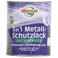 Grondverf - zijdeglans - anti roest - 3in1 - wit - 750 ml