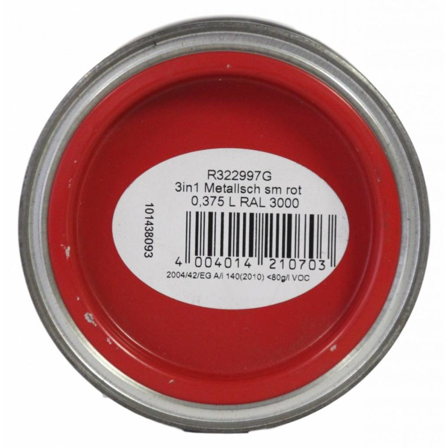 Grondverf - zijdeglans - anti roest - 3in1 - rood - 375 ml
