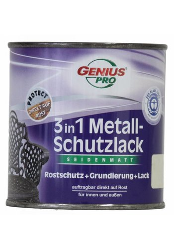 Genius Pro Grondverf - zijdeglans - anti roest - 3in1 - wit - 375 ml