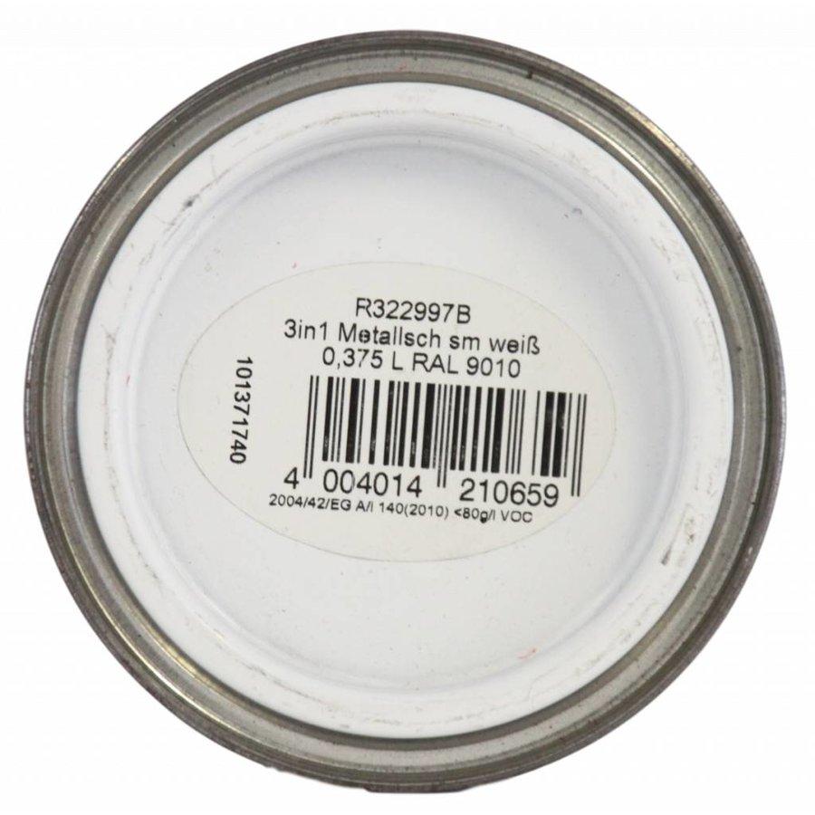 Grondverf - zijdeglans - anti roest - 3in1 - wit - 375 ml