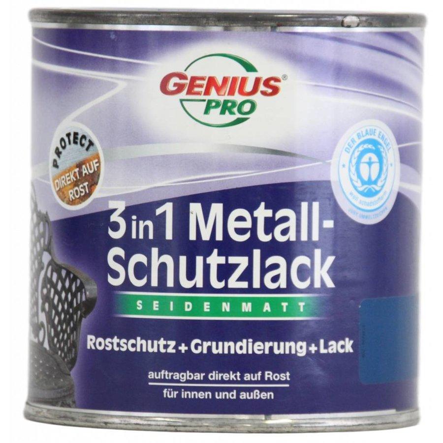 Grondverf - zijdeglans - anti roest - 3in1 - blauw - 375 ml