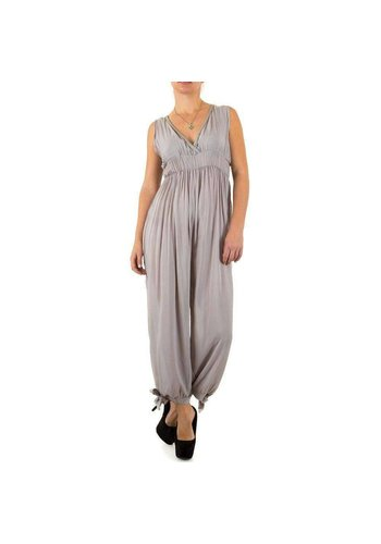 100%25 FASHION PARIS Dames Jumpsuit Gr. één maat - grijs
