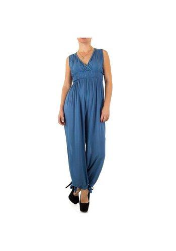 100%25 FASHION PARIS Dames Jumpsuit Gr. één maat - blauw