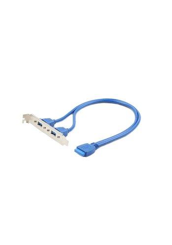 Cablexpert Dubbele USB 3.0 poort op bracket