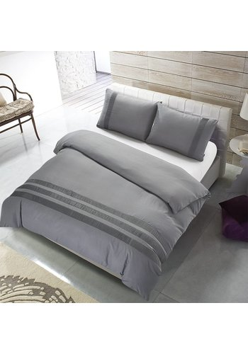 The Supreme Home Collection Bettbezug Avenza Silver Grey